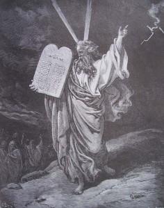 Gustave Doré, Moise, gravure de la Bible