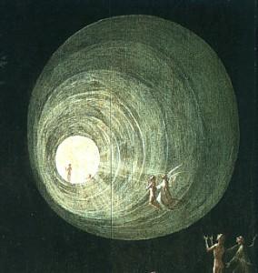 Jérôme Bosch, L'Ascension vers l'Empyrée, 1504, détail