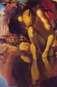 Dali, Métamorphose de Narcisse (partie gauche)