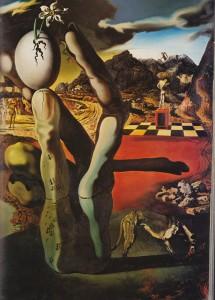 Dali, Métamorphose de Narcisse (partie droite)