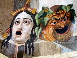 Masques comique et tragique, Rome