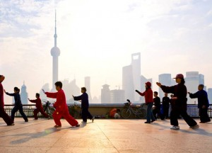 Shanghai, tai chi et... pollution