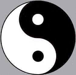 Le double poisson, yin dans le yang, yang dans le yin